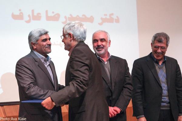 تقدیر از دکترعارف بعنوان استاد برجسته و پژوهشگر برتر دانشگاه شریف