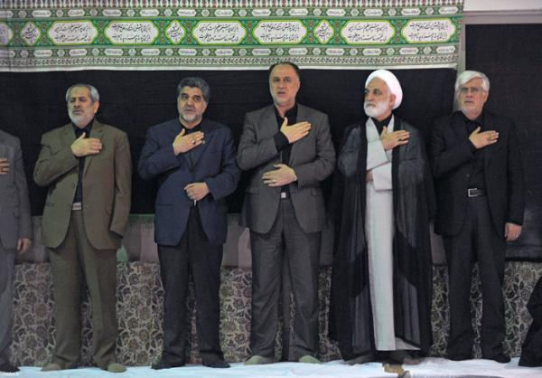 حضور در مراسم عزاداری حسینیه امام خمینی(ره)